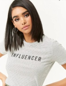 tshirt influencer