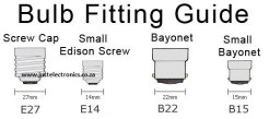 Bulb Fittings Guide E27 to E14