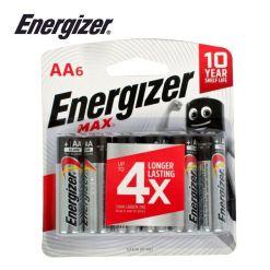 Energizer Max AA 6 Pack Alkaline Batteries