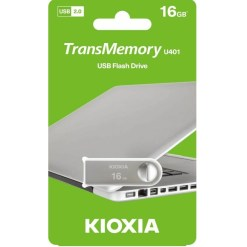 Kioxia U401 Metal TransMemory 16GB USB2.0 Flash Drive LU401S016GG4