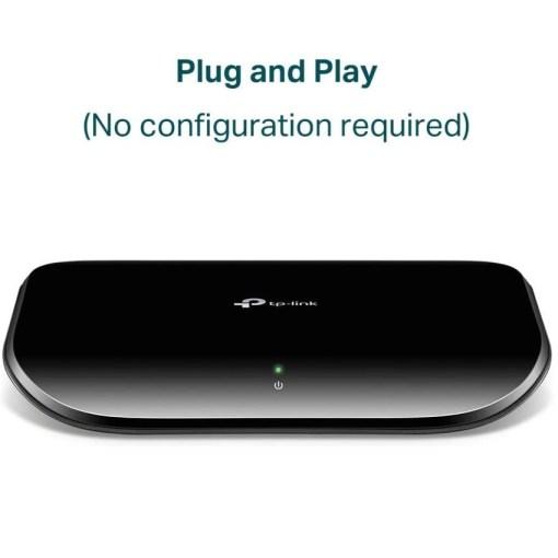 TP-Link 5 Port Unmanaged Gigabit Ethernet Switch TL-SG1005D Plug & Play