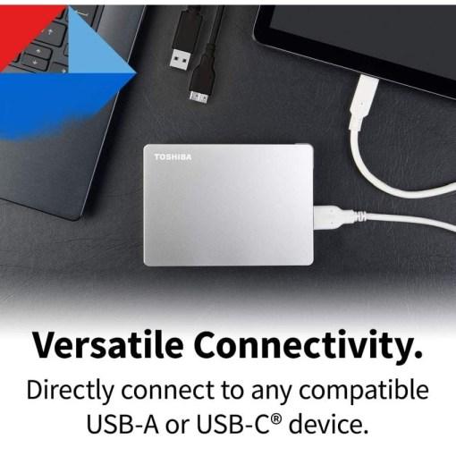 Toshiba Canvio Flex 2TB Versatile Connectivit HDTX120ESCAA