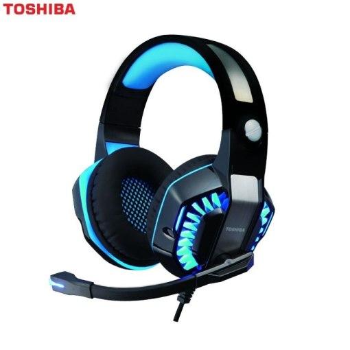 Toshiba RZEG902H Gaming Headset With Virtual 7.1 Surround Sound Blue