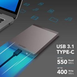 Lexar 512GB Portable SSD Upto 550mbs Read Speed