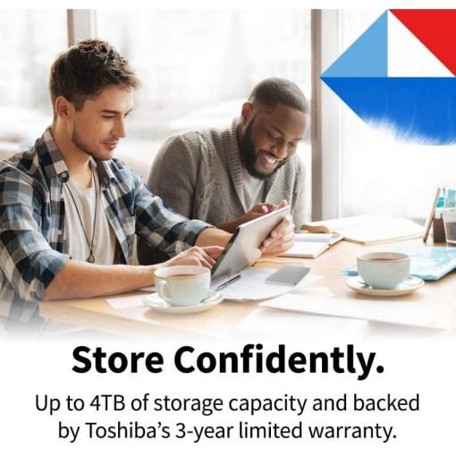 Toshiba Canvio Flex Portable Hard Drive Store Confidently 4TB HDTX140ESCAA