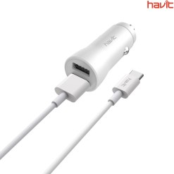 Havit ST849 TYPE-C Cable and Car Charger White