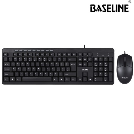 Baseline Wired Keyboard and Mouse Combo BL-COMBW101