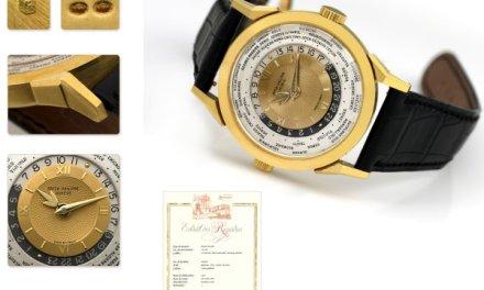 Patek Philippe World Time Sells for 1.25 million U.S. dollars