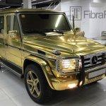 Gold Mercedes G-Class