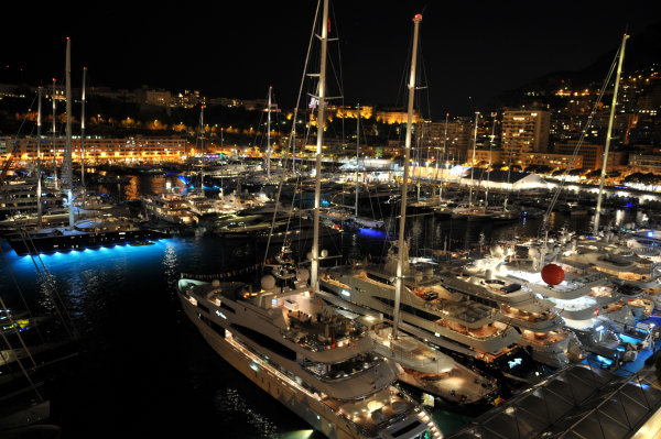 Monaco Yachs by night