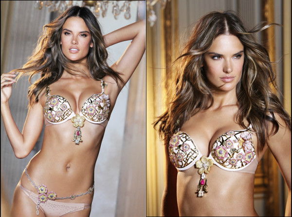 Supermodel Alessandra Ambrosio Floral Fantasy Bra Gift Set and the Bombshell Fantasy Fragrance (1)