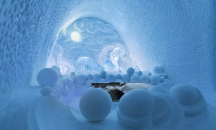 ICEHOTEL is a hotel built of ice and snow