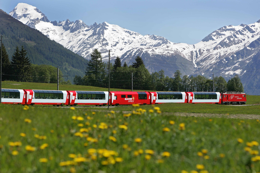 Glacier Express – spectacular railway in Switzerland