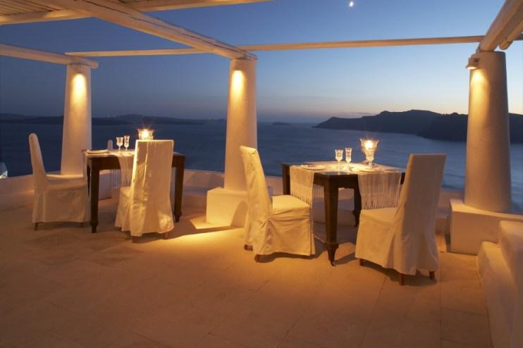Katikies Hotel, dinner sunset