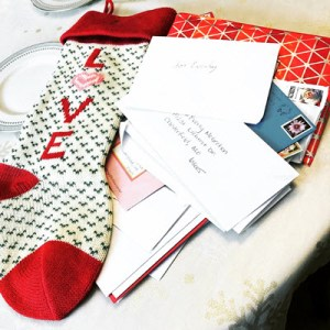 Christmas Stocking with Letters to Child Who Passed Away