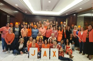 Lara's Company Supports Her by Wearing Her Son's Favorite Color - Orange