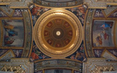 Dome from below, Cathedral of Savona*