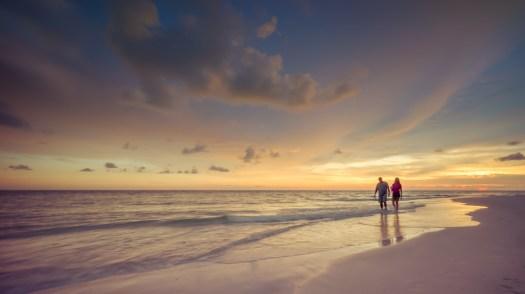 Walk on a Warm Beach