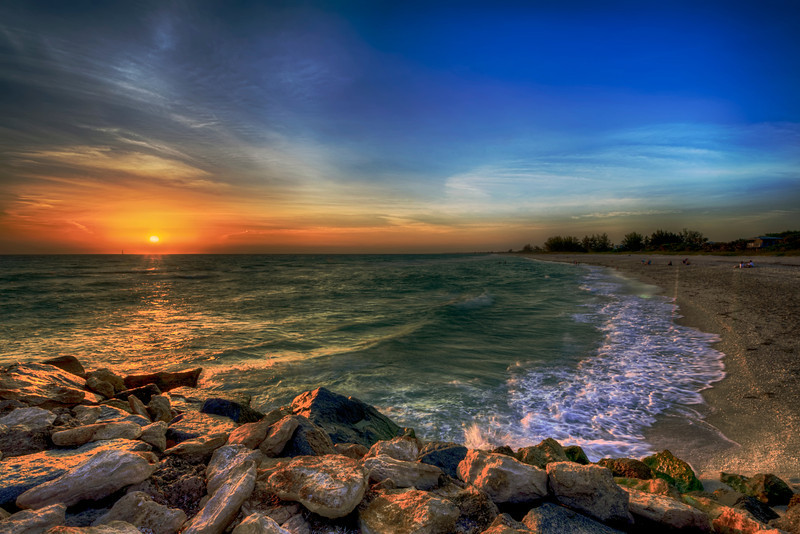 Looking for Margaritaville? Nokomis might fit the bill; a small town in Sarasota County along Highway 41 with a great beach and, like all Florida west coast towns, great sunsets.