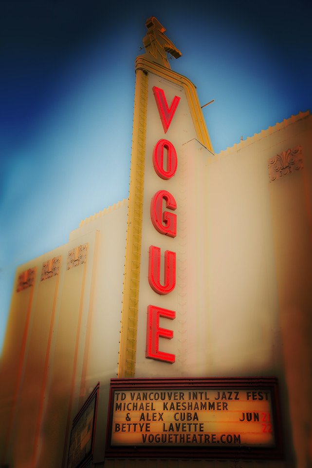 The Vogue is on Granville Avenue in downtown Vancouver. Seems like a cool place to listen to some cool jazz.