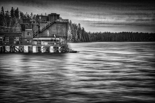 Tofino is cool little town on the west coast of Vancouver Island. Surrounded by beautiful landscapes, it's a haven for artists, surfers and people like me just getting away from it all. Some of the residents are commercial fishermen and I imagine that not too long ago packed the fish in ice from this ice house. Now its a local eating establishment and a cool place to watch the boats and seaplanes as they travel in and out of the small harbour.