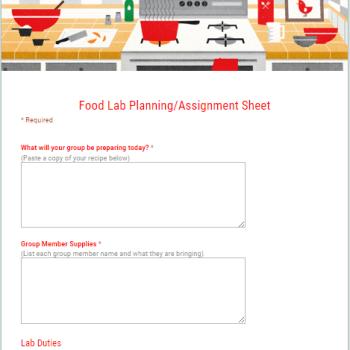 Food Lab Plans