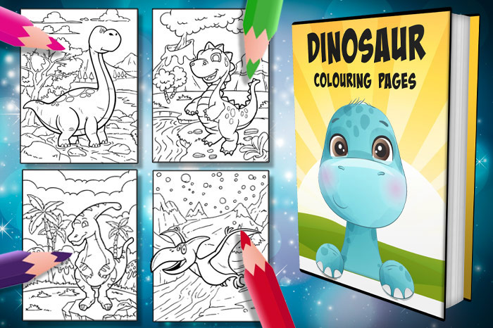 free dinosaur colouring pages