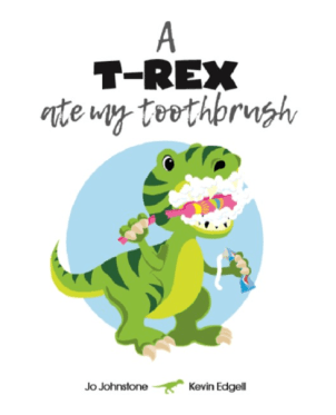 Cute T-Rex Character in Kid's book