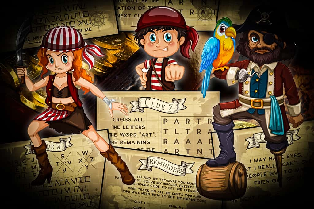 pirate treasure hunt clues riddles