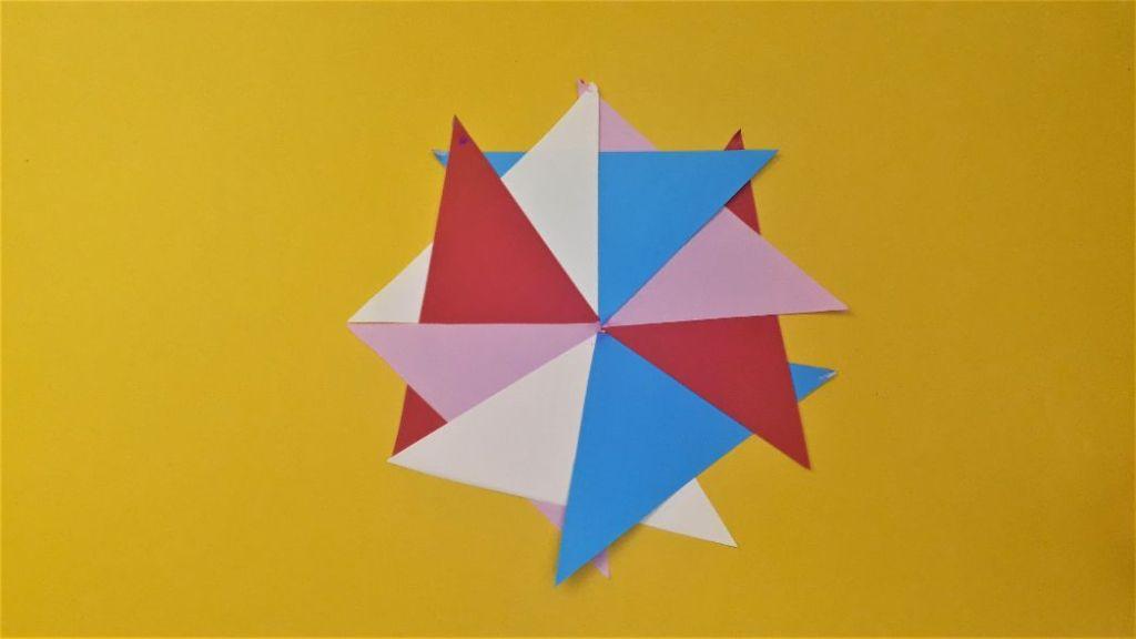 paper pinwheel step 7