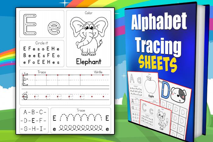 trace the alphabet worksheet