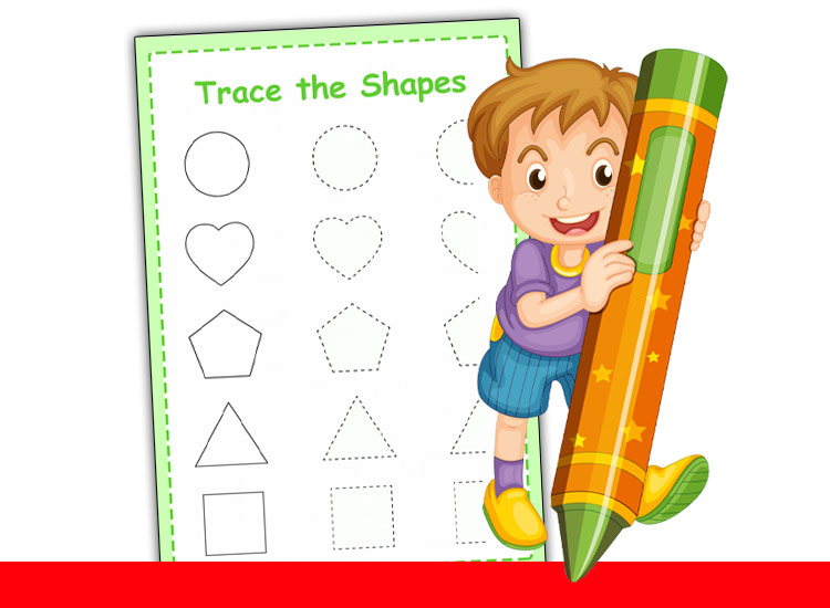 trace the shapes worksheets & Maths For Reception Worksheets