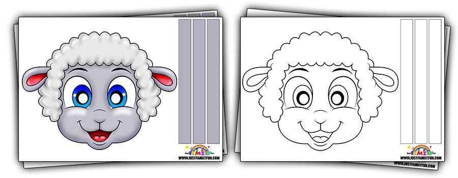 Printable Sheep Paper  nimal Mask Templates