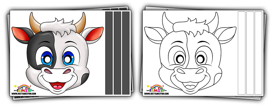 Free Printable Cow Mask Templates