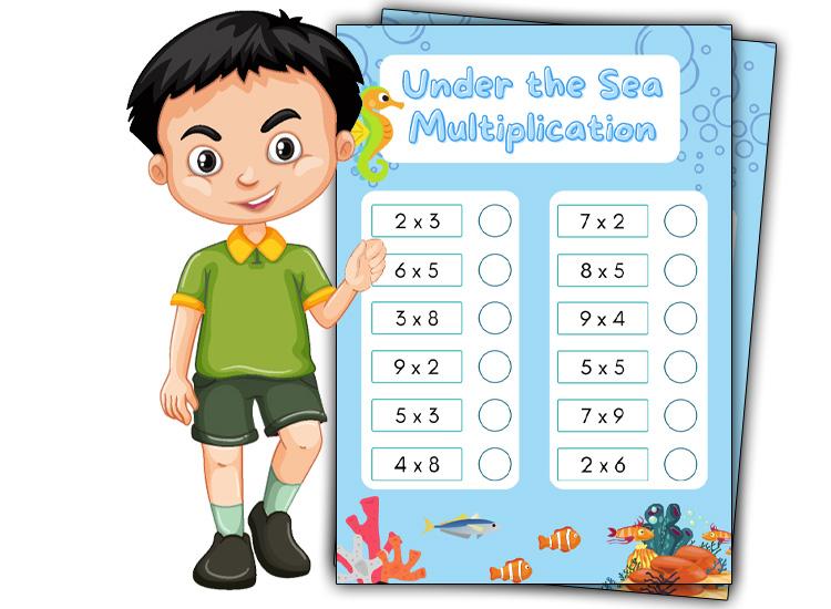 under the sea Multiplication