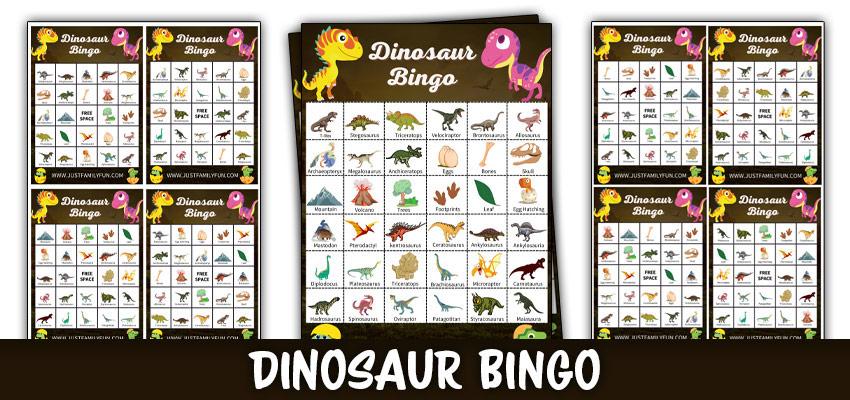 Dinosaur Bingo Printable Game