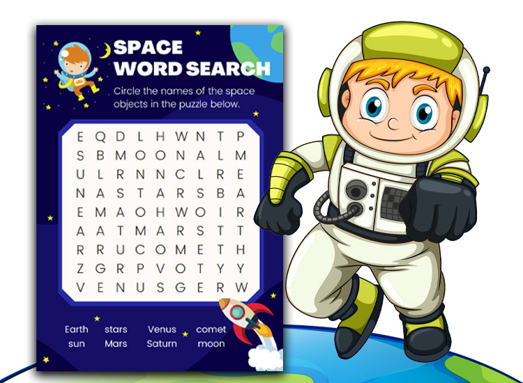 Space Activity sheets wordsearch