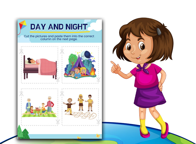 Space Activity sheets day and night