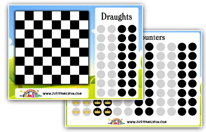 draughts printable game pdf