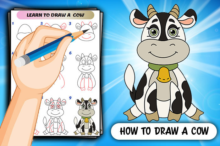 How To Draw A Cute Cow
