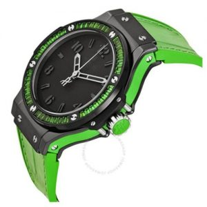Hublot Big Bang Tutti Frutti Black Dial Green Strap Wrist Watch