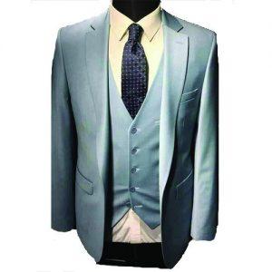 Marcel Italian Ash Regular Fit Vested | 3piece Men's Suit