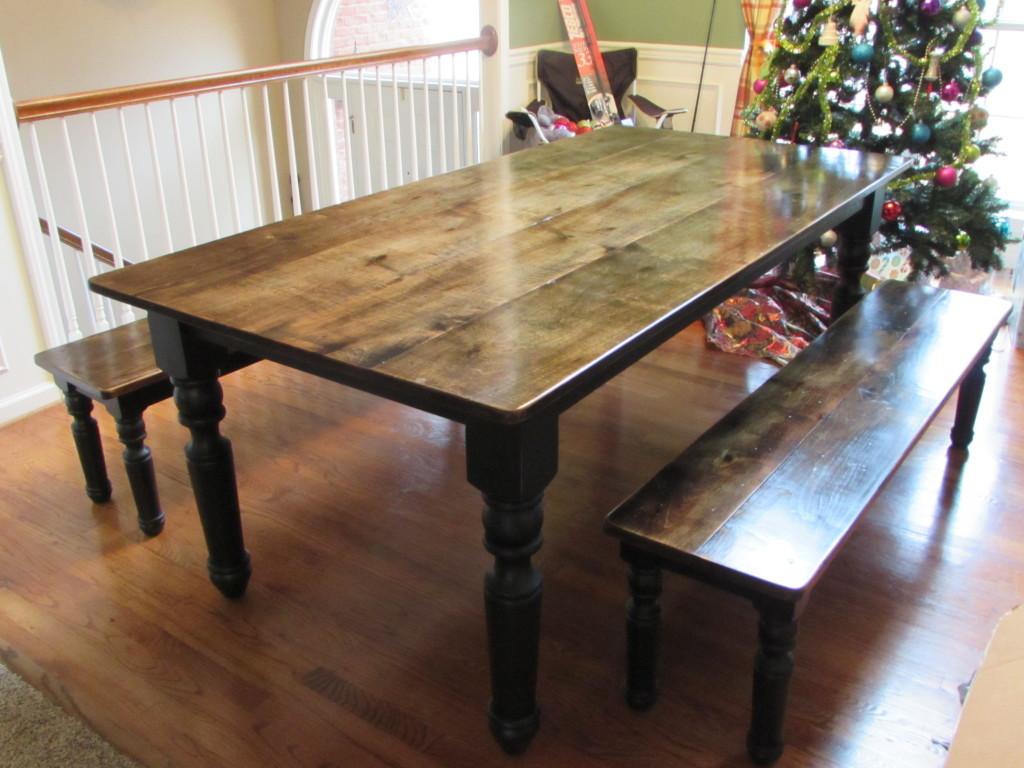 Farm Farmhouse Table W Matching Benches