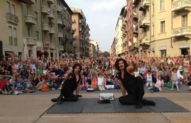 Insieme per il festival di teatro di strada di Torino
