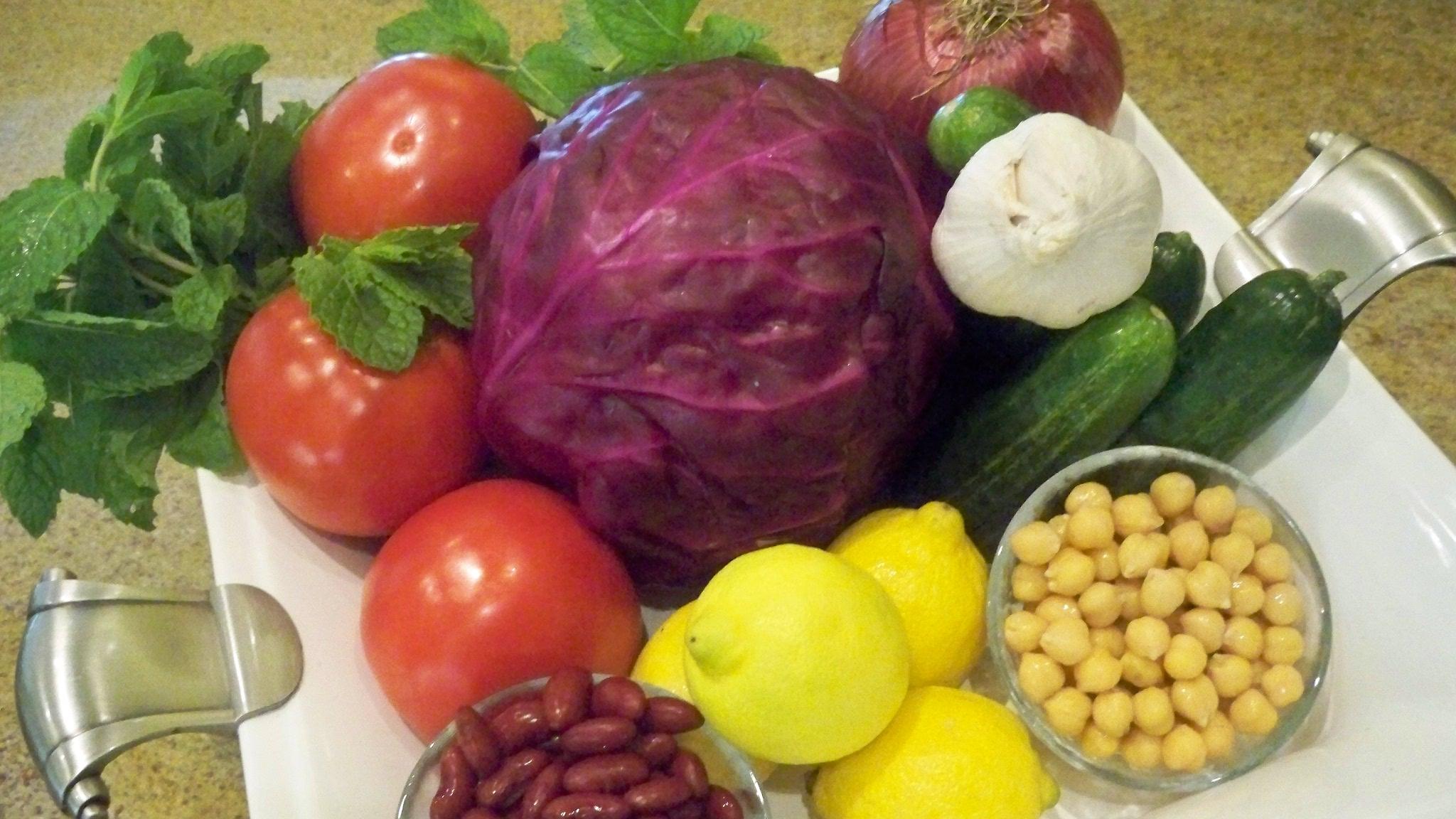 Red Cabbage Salad Ingredients