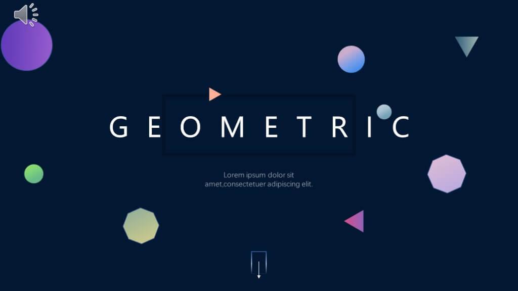 Creative Geometric Presentation Template 16 Slides Just Free Slides