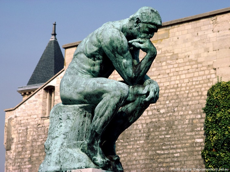 Image result for the thinker by rodin