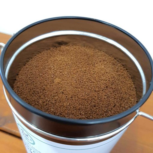 Just Gaia speciality coffee ground in tin