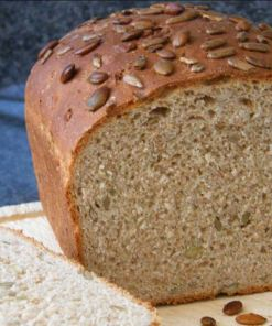 Gluten free fava bean flour (bread flour) example of seeded loaf from https://hodmedods.co.uk/
