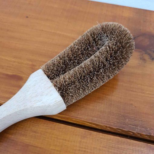 Coconut dish brush close up